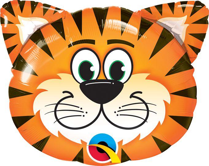 Balão Metalizado Festa Safari Tigre - 30'' - Qualatex - Rizzo festas