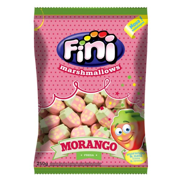 Marshmallow Morangos 250g - Fini - Rizzo Embalagens