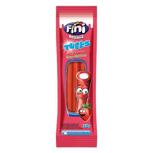 Tubes Morango FINI 12 pacotes com 12g cada - Fini - Rizzo Embalagens