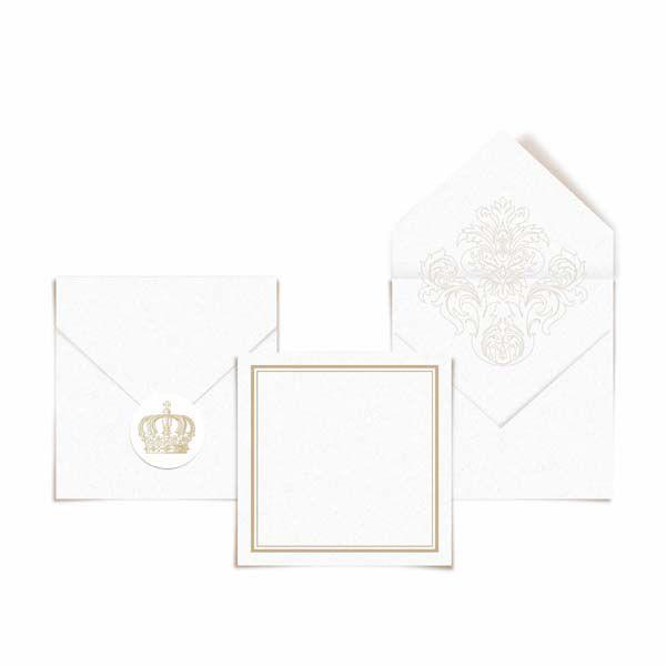 Cartao de Agradecimentos - 24 unidades - Cromus Casamento Classico - Rizzo Festas