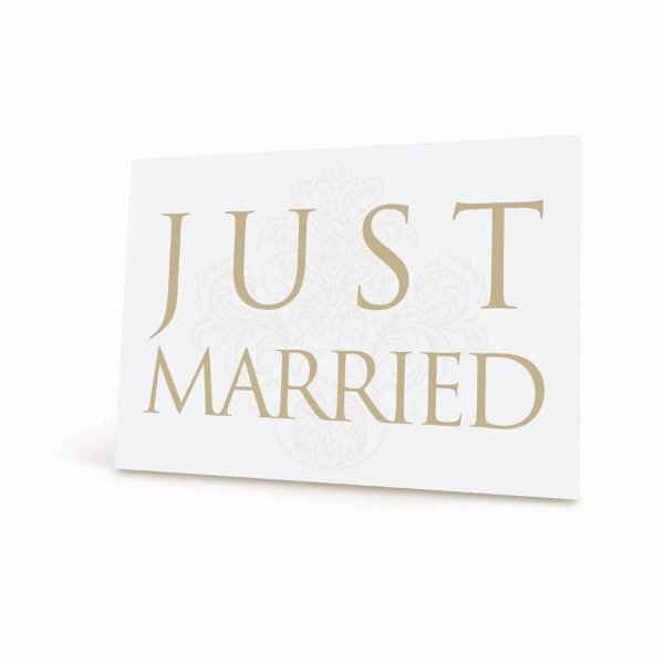 Placa Just Married - 01 unidade - Cromus Casamento Classico - Rizzo Festas