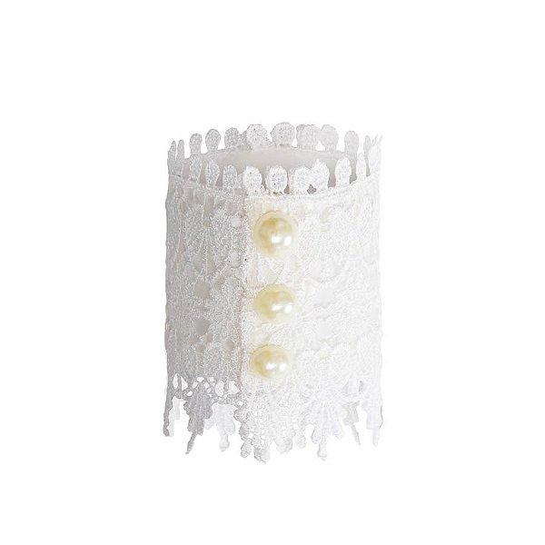 Acessorio para Bouquet Renda Perola (28400020) - 01 unidade - Cromus Casamento Romantico - Rizzo Festas