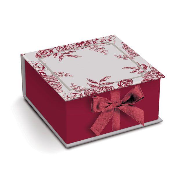 Caixa Rigida para Padrinhos G 23500007 - 01 unidade - Cromus Casamento Escarlate - Rizzo Festas