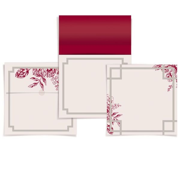 Convite 23010864 - 24 unidades - Cromus Casamento Escarlate - Rizzo Festas