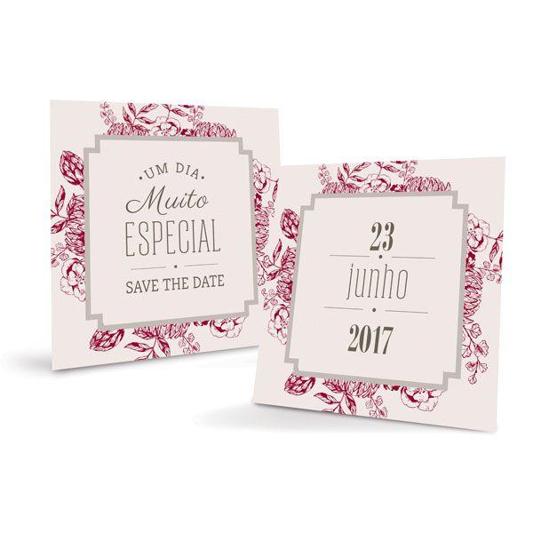 Placa Save The Date 23010846 - 01 unidade - Cromus Casamento Escarlate - Rizzo Festas