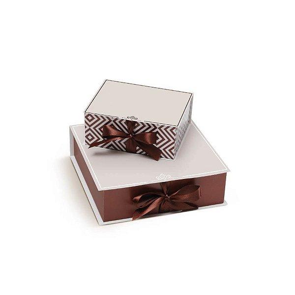 Caixa Rigida Convite para Padrinhos P - 01 unidade - Cromus Casamento Rustico - Rizzo Festas