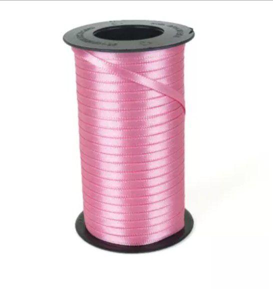 Fita de Cetim Carretel Progresso 4mm nº00 - 100m Cor 240 Rosa Escuro - 01 unidade - Rizzo Embalagens
