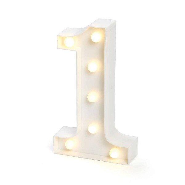 Número LED Decoração Festa - nº 1 - 01 unidade - Rizzo Festas