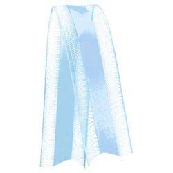Fita de Voal com Cetim VCE003 15mm Cor 212 Azul Bebê - 10 metros - Progresso - Rizzo Embalagens
