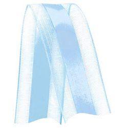 Fita de Voal com Cetim VCE005 22mm Cor 212 Azul Bebê - 10 metros - Progresso - Rizzo Embalagens