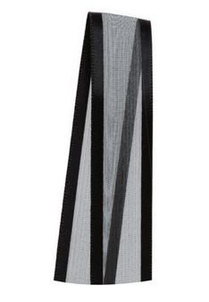 Fita de Voal com Cetim ZC003 15mm Cor 219 Preto - 10 metros - Progresso - Rizzo Embalagens