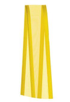 Fita de Voal com Cetim ZC003 15mm Cor 763 Amarelo Gema - 10 metros - Progresso - Rizzo Embalagens