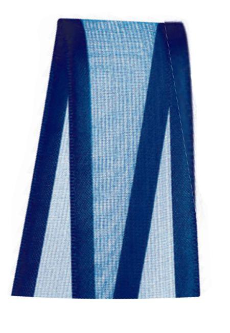 Fita de Voal com Cetim ZC009 38mm Cor 215 Azul Marinho - 10 metros - Progresso - Rizzo Embalagens