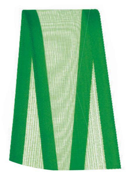 Fita de Voal com Cetim ZC009 38mm Cor 217 Verde Bandeira - 10 metros - Progresso - Rizzo Embalagens