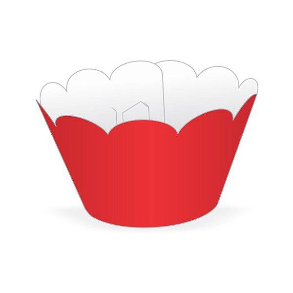 Mini Wrapper Mini Cupcake - Vermelho - 3cm x 14,5cm - 12 unidades - Nc Toys - Rizzo Embalagens