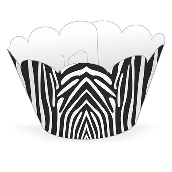 Wrapper Cupcake Tradicional - Zebra - 5cm x 22cm - 12 unidades - Nc Toys - Rizzo Embalagens
