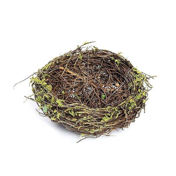 Ninho em Rattan Verde Rústico - P 10cm - Linha Rustic - Cromus Páscoa Rizzo Embalagens