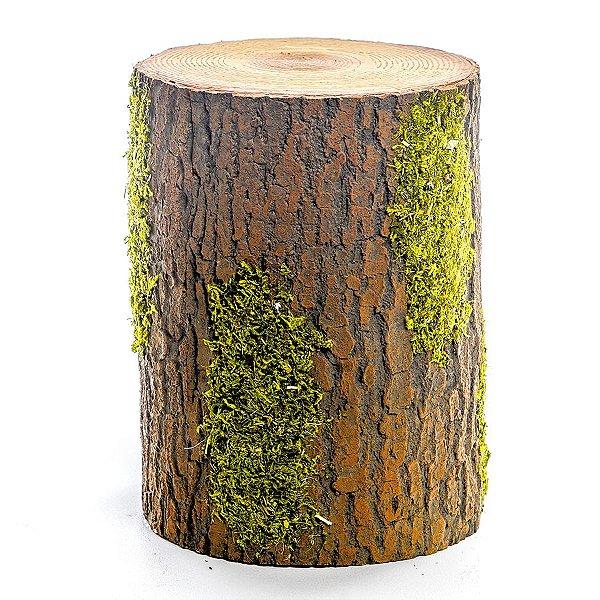 Tronco Decorativo Rústico - M 20cm x 15cm - Linha Rustic - Cromus Páscoa Rizzo Embalagens