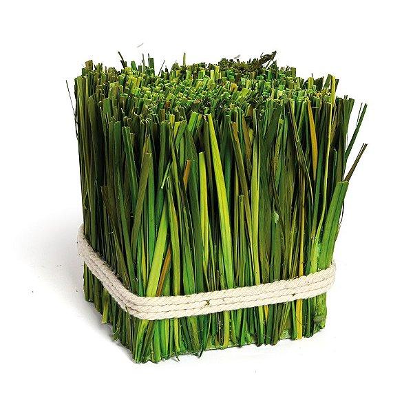 Fardo de Grama Decorativo Verde Rústico - 15cm x 13cxm - Linha Rustic - Cromus Páscoa Rizzo Embalagens