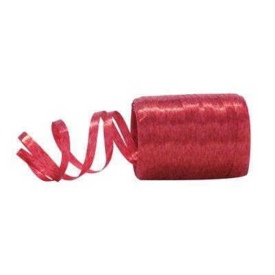 Fitilho Plástico Vermelho - 50 metros - Rizzo Embalagens