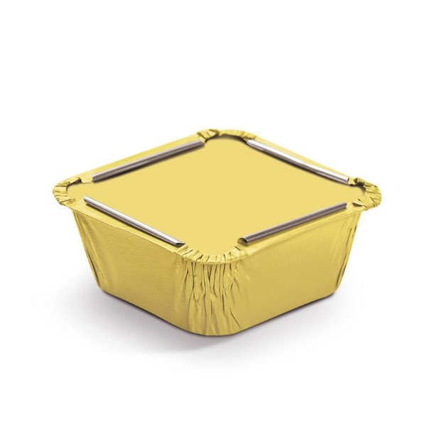 Marmitinha Liso Amarelo P 5,5x5,5x3cm - 12 unidades - Cromus - Rizzo Embalagens