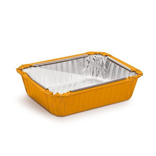 Marmitinha Laranja Tampa de Acetato M 8,5x6,5x2,5cm - 12 unidades - Cromus - Rizzo Embalagens