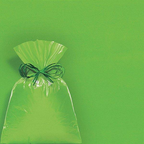 Saco Perolado com Aba Adesiva Verde 08x8cm - 100 unidades - Cromus - Rizzo Embalagens