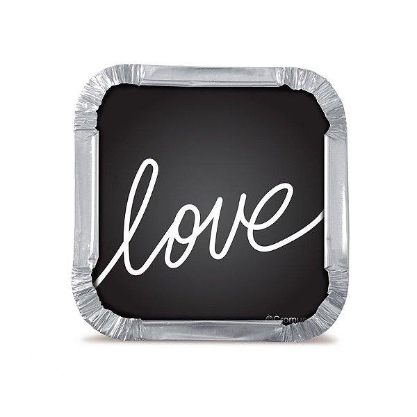 Marmitinha P Love Felizes para Sempre 5,5x5,5x3cm  - 12 unidades - Cromus - Rizzo Embalagens