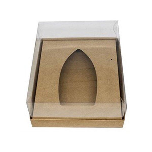 Caixa Barca de Chocolate - G - 20,5cm x 17cm x 6,5cm - Kraft- 5 unidades - Assk - Páscoa Rizzo Embalagens
