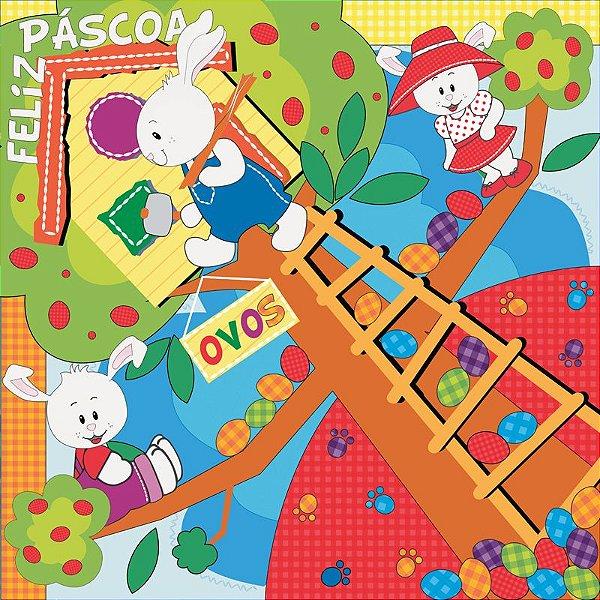 Saco Express 35x35cm para Ovos de 250g a 350g - Casa da Árvore - 05 unidades - Cromus Páscoa - Rizzo Embalagens