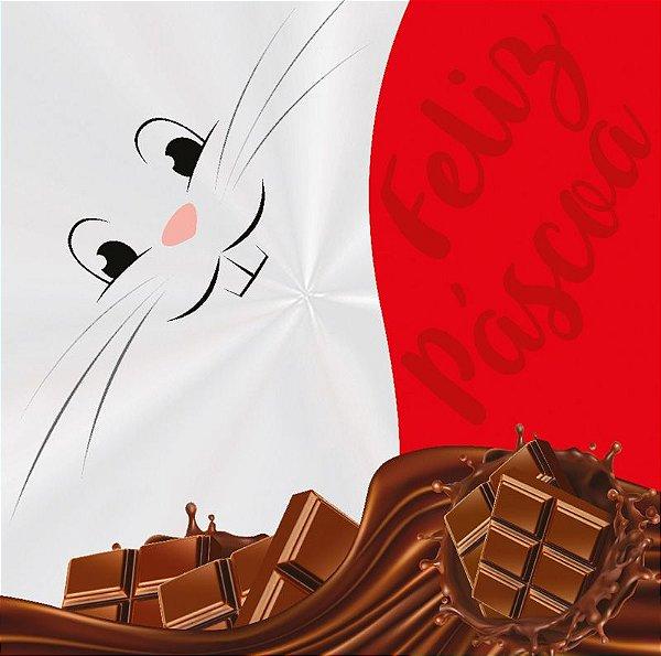 Saco Express 49x49cm para Ovos de 750g a 1kg - Coelhada - 05 unidades - Cromus Páscoa - Rizzo Embalagens