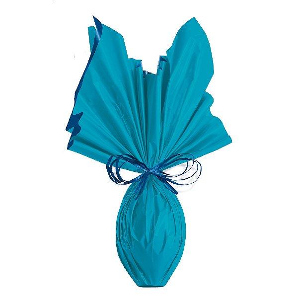 Folha para Ovos de Páscoa Double Face Acetinado Azul 69x89cm - 05 unidades - Cromus Páscoa - Rizzo Embalagens