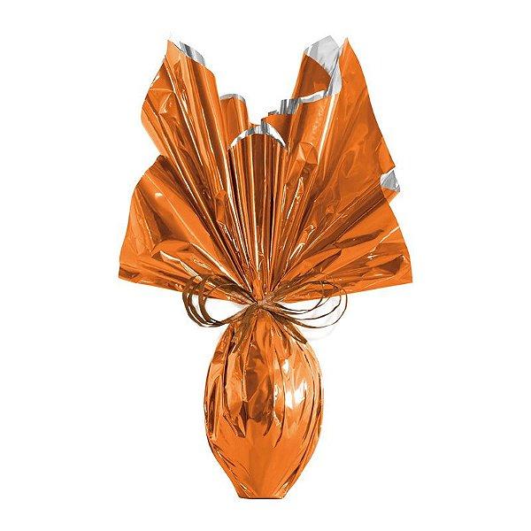 Folha para Ovos de Páscoa Metalizado Laranja 69x89cm - 05 unidades - Cromus Páscoa - Rizzo Embalagens