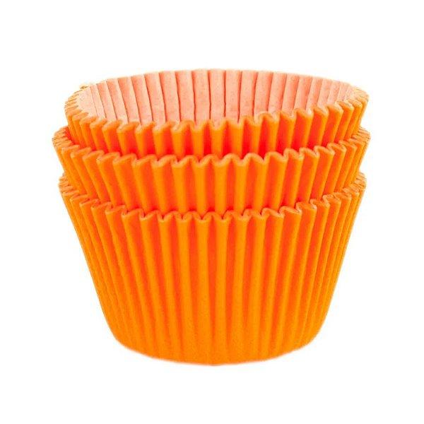 Forminha Forneável Mini Cupcake Nº 2 (2,5cm x 4cm) Laranja - 45 unidades - Mago - Rizzo Embalagens