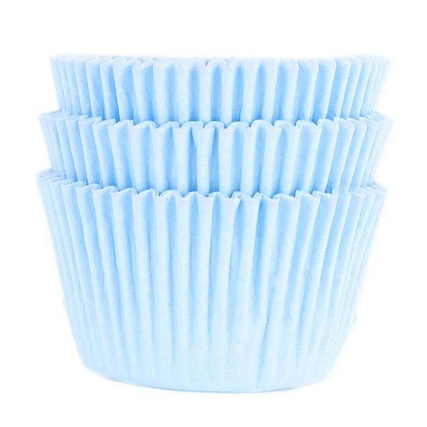Forminha Forneável Cupcake Nº 0 (4cm x 5cm) Azul Bebê - 45 unidades - Mago - Rizzo Embalagens