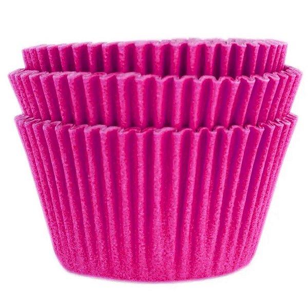 Forminha Forneável Cupcake Nº 0 (4cm x 5cm) Rosa Pink - 45 unidades - Mago - Rizzo Embalagens