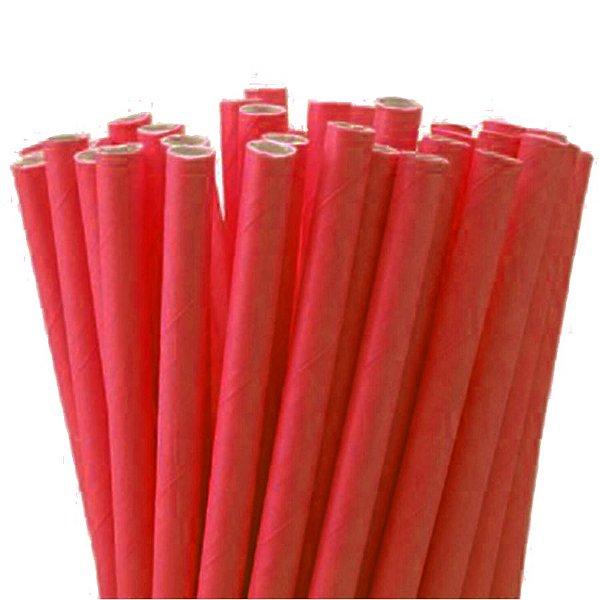 Canudo de Papel Liso Vermelho - 20 unidades - ArtLille - Rizzo Festas