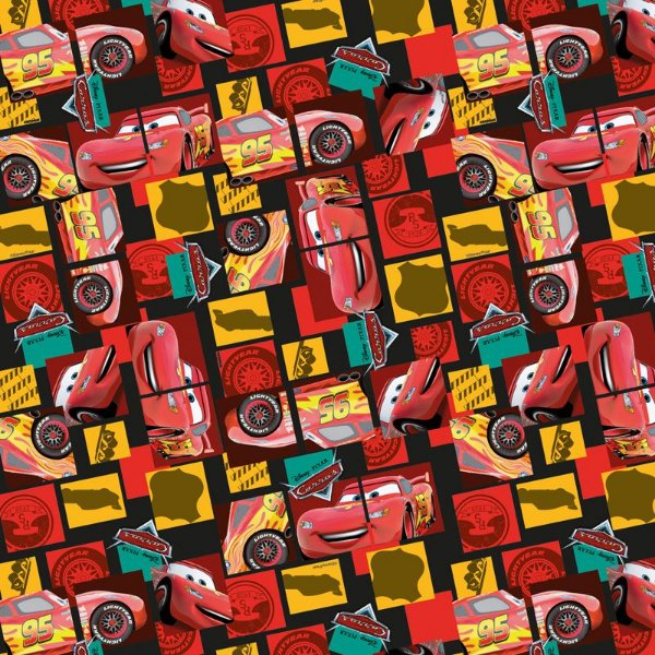 Folha para Ovos de Páscoa Cars McQueen 69x89cm - 05 unidades - Cromus Páscoa - Rizzo Embalagens