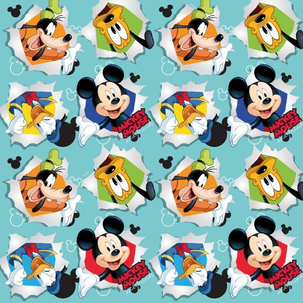 Folha para Ovos de Páscoa Mickey Friendship 69x89cm - 05 unidades - Cromus Páscoa - Rizzo Embalagens