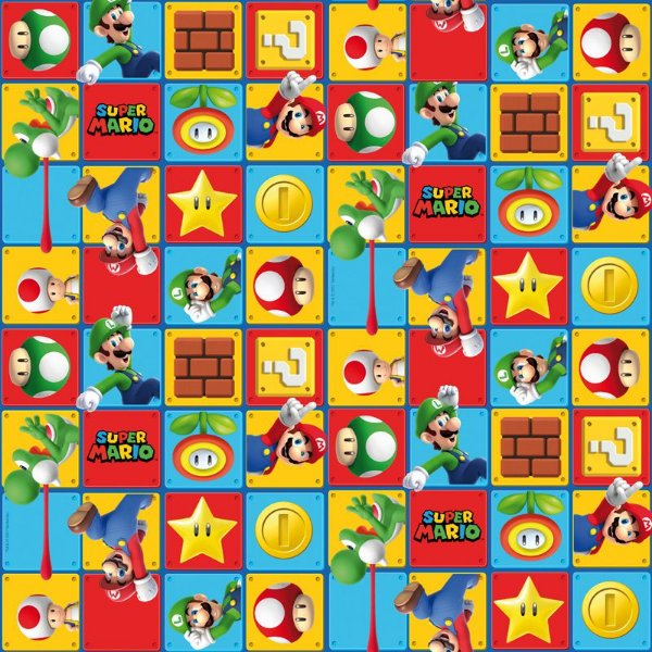 Folha para Ovos de Páscoa Super Mario 69x89cm - 05 unidades - Cromus Páscoa - Rizzo Embalagens