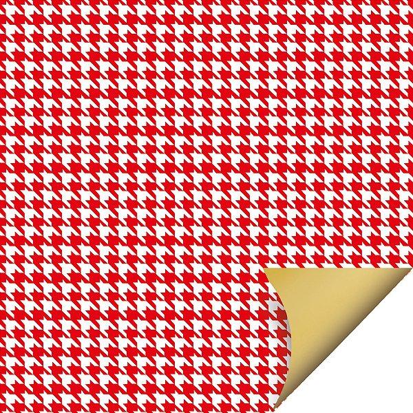 Folha para Ovos de Páscoa Double Face Tweed Vermelho 69x89cm - 05 unidades - Cromus Páscoa - Rizzo Embalagens