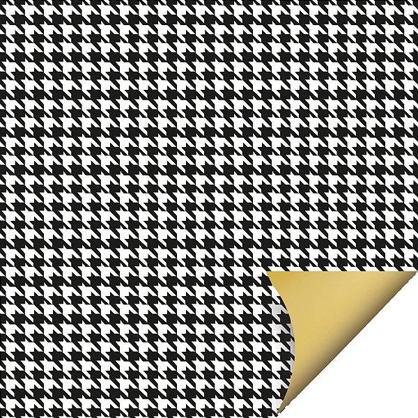 Folha para Ovos de Páscoa Double Face Tweed Preto 69x89cm - 05 unidades - Cromus Páscoa - Rizzo Embalagens