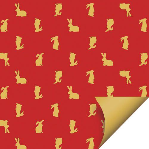 Folha para Ovos de Páscoa Double Face Tradição Leila 69x89cm - 05 unidades - Cromus Páscoa - Rizzo Embalagens