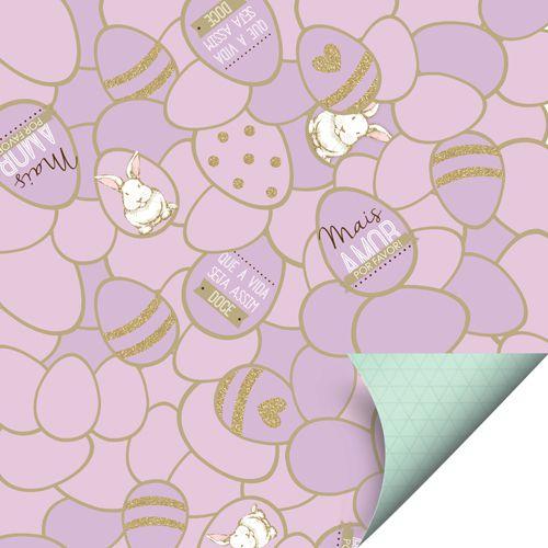 Folha para Ovos de Páscoa Double Face Surpreendente Lilás 69x89cm - 05 unidades - Cromus Páscoa - Rizzo Embalagens