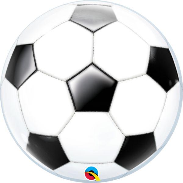 dee209c78 Balão Bubble Transparente Bola de Futebol - 22   56cm - Qualatex - Rizzo  festas