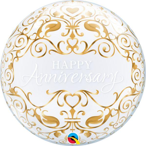Balão Bubble Transparente Datas Importantes Clássico - 22'' 56cm - Qualatex - Rizzo festas
