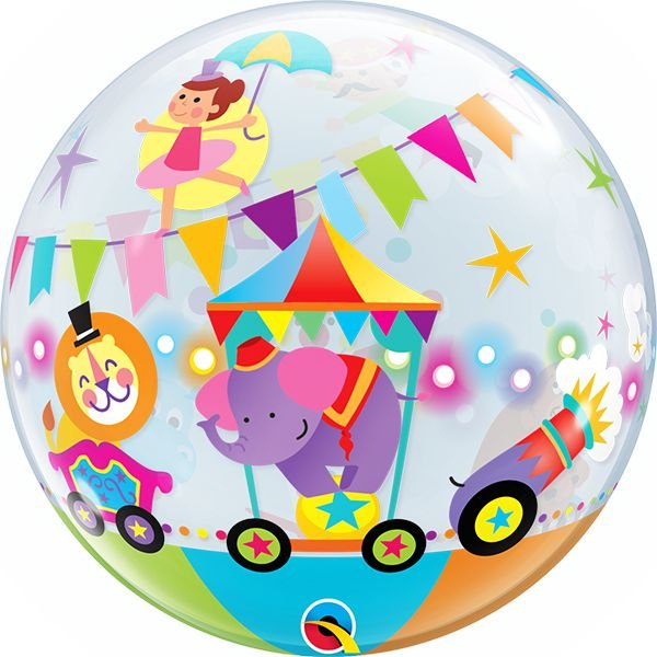 Balão Bubble Transparente Desfile do Circo - 22'' 56cm - Qualatex - Rizzo festas