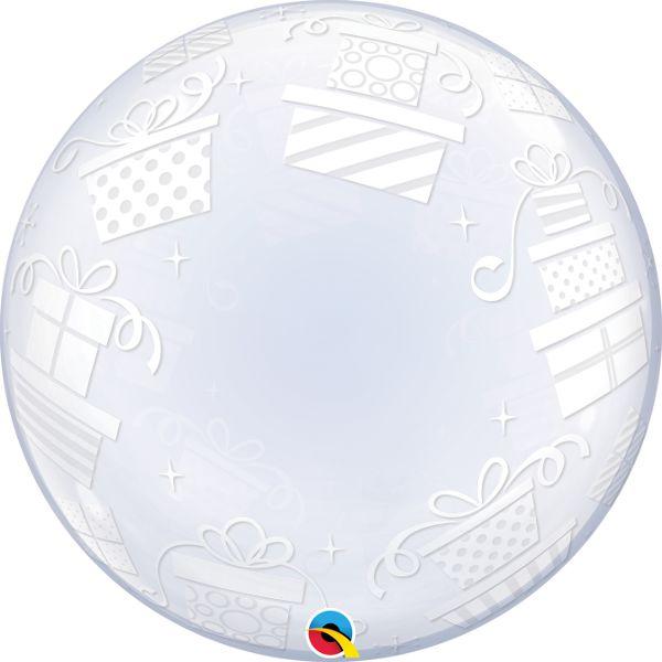 Balão Bubble Transparente Presentes Embrulhados - 24'' 61cm - Qualatex - Rizzo festas