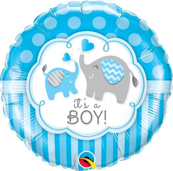 Balão Metalizado It's a Boy - 18'' - Qualatex - Rizzo festas