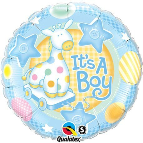 Balão Metalizado Brinquedos It's a Boy - 18'' - Qualatex - Rizzo festas